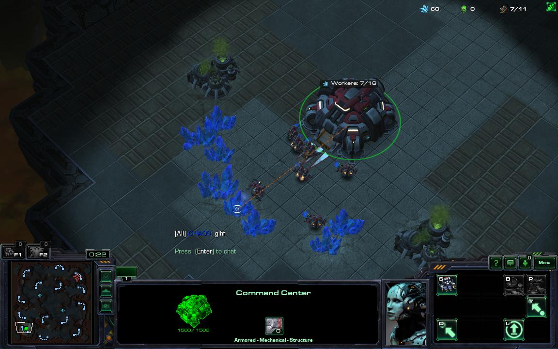 Фраза 'glhf' в StarCraft 2