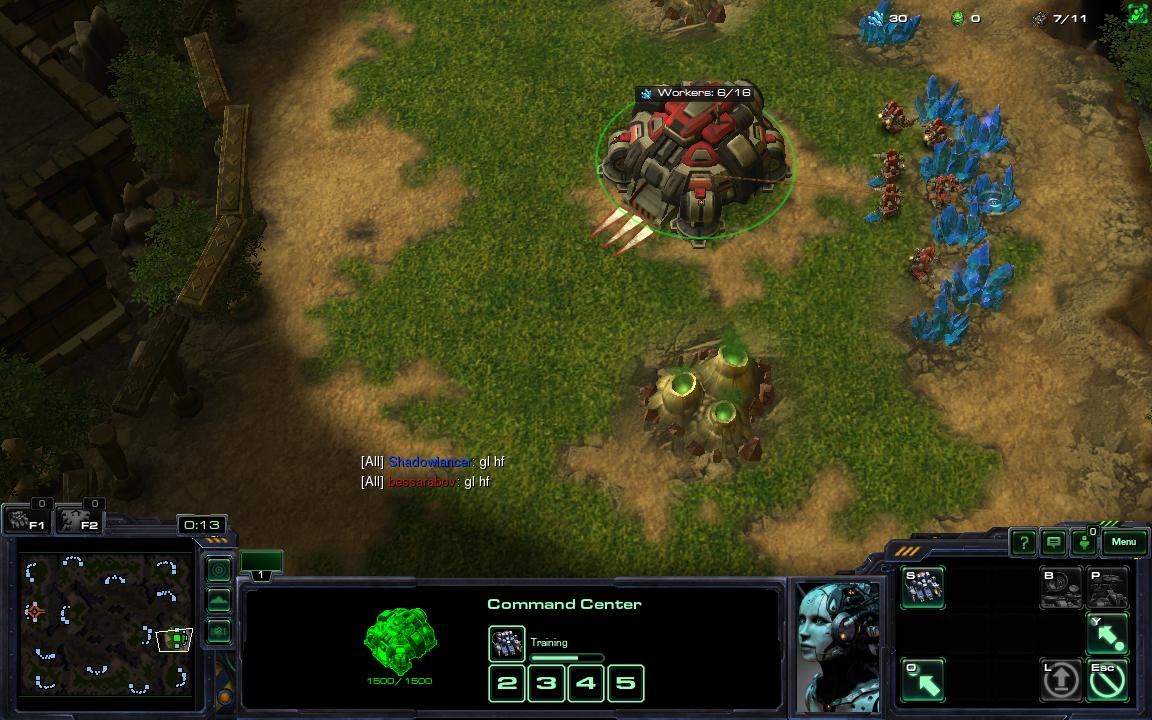 Фраза 'gl hf' в StarCraft 2