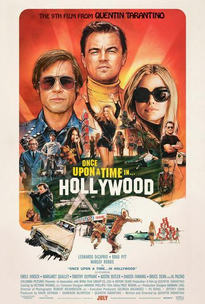 Английский постер к фильму Once Upon a Time In Hollywood