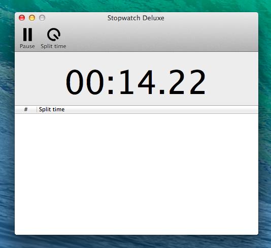 Скриншот секундомера Stopwatch Deluxe