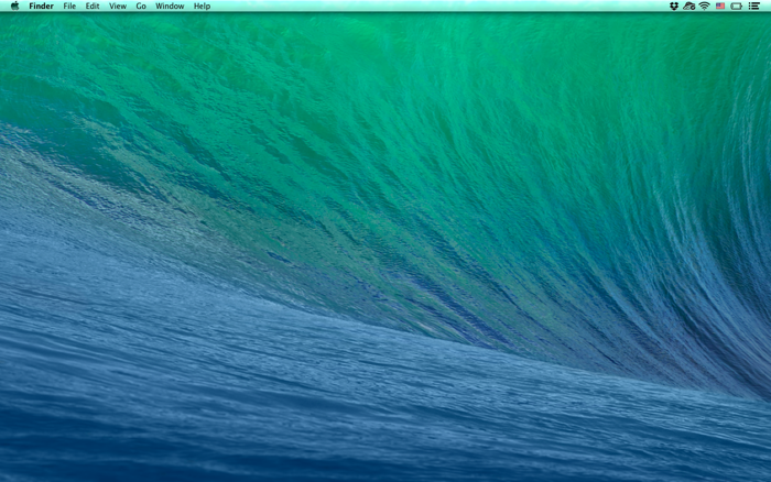 Empty desktop on Mac OS X Mavericks