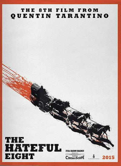 Английский постер к фильму The Hateful Eight