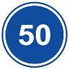 Знак 4.6 «Ограничение минимальной скорости»