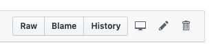 GitHub file control icons